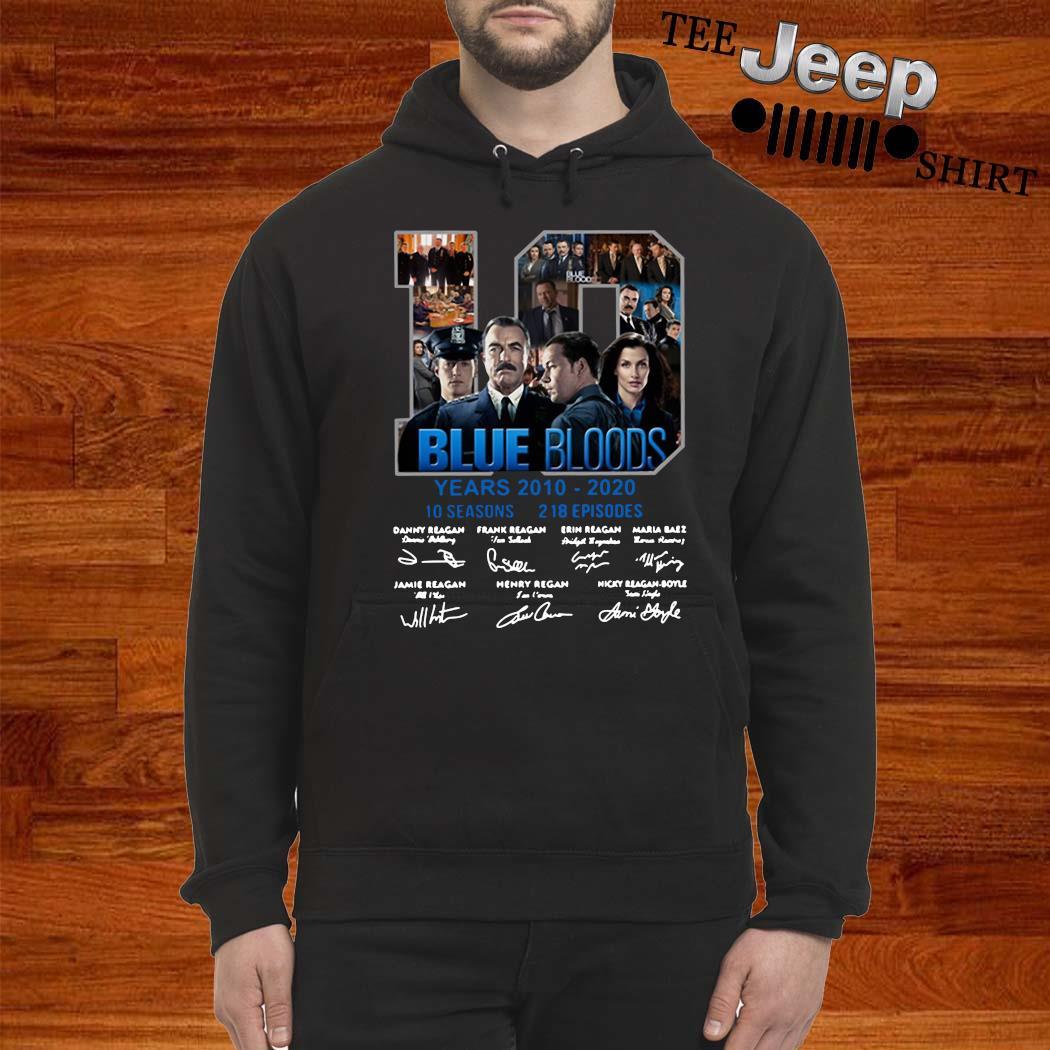 10 Blue Bloods Years 2010 2020 10 Seasons 218 Episodes Signatures Shirt hoodie