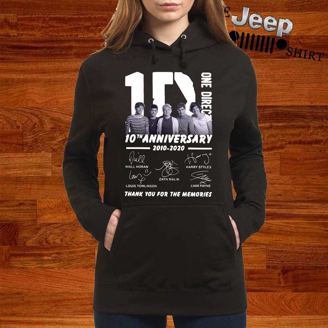 1D One Direction 10th Anniversary 2010 2020 Thank You For The Memories Shirt women-hoodie