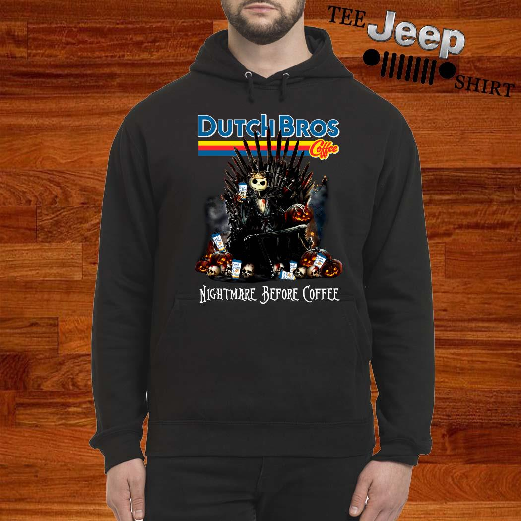 Dutch Bros Coffee Jack Skellington Nightmare Before Coffee Shirt hoodie