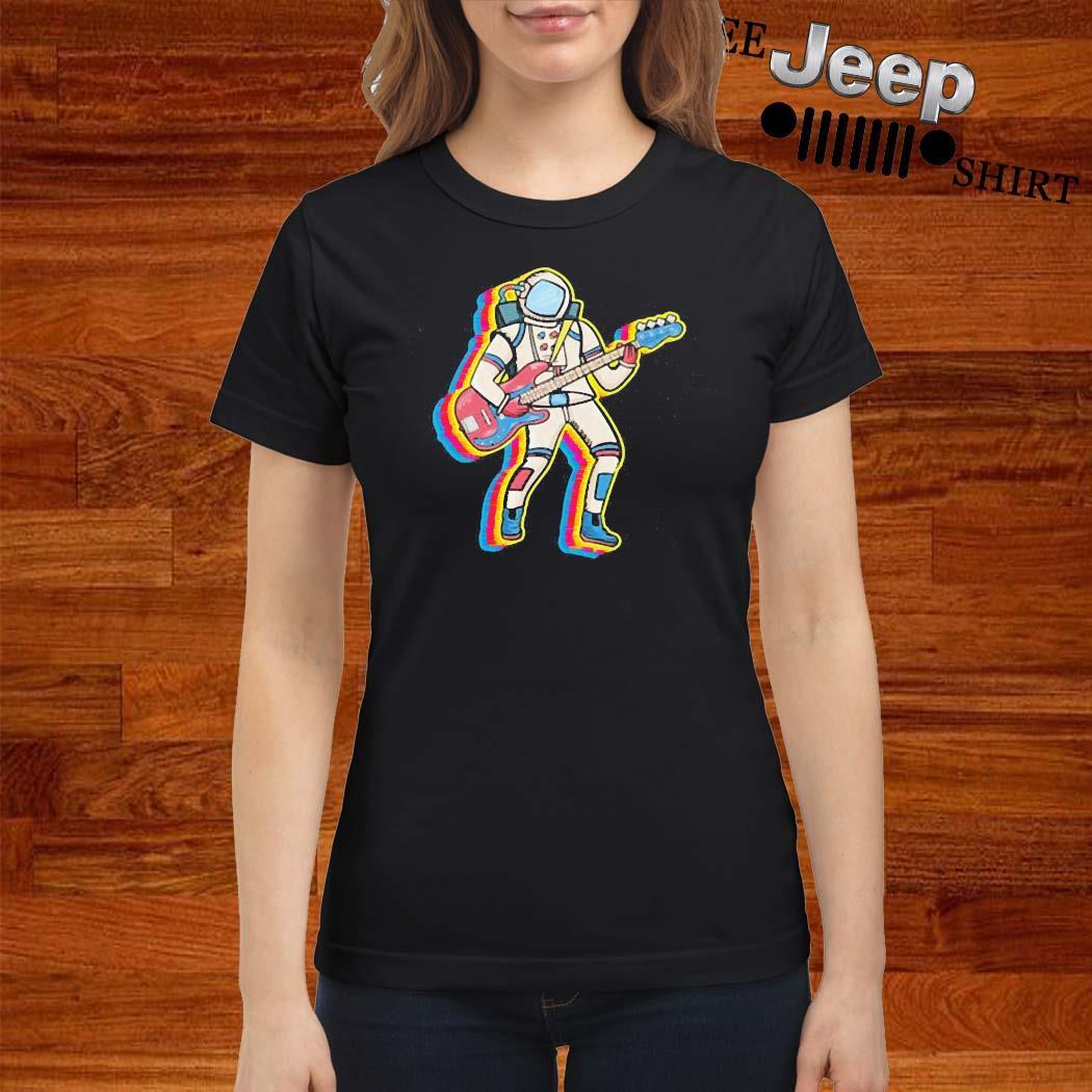 Bass Player Musician Astronaut Gift Idea Shirt ladies-shirt