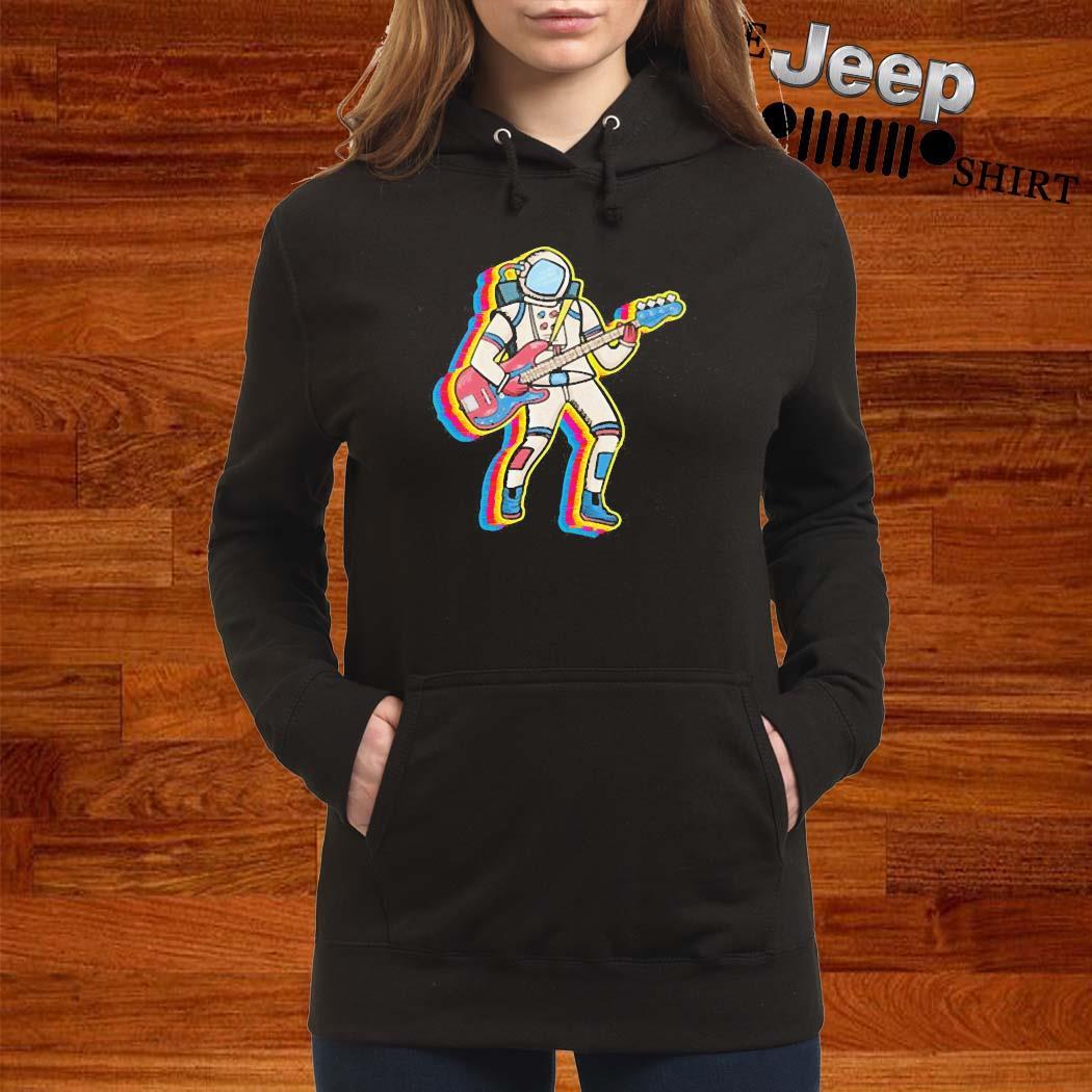 Bass Player Musician Astronaut Gift Idea Shirt women-hoodie
