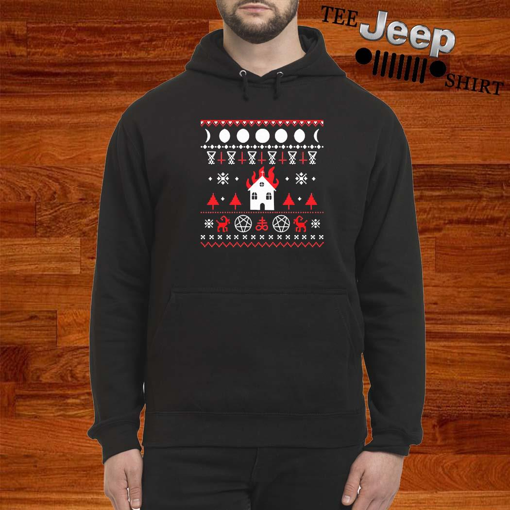 Burning Church Ugly Christmas 2020 Shirt hoodie