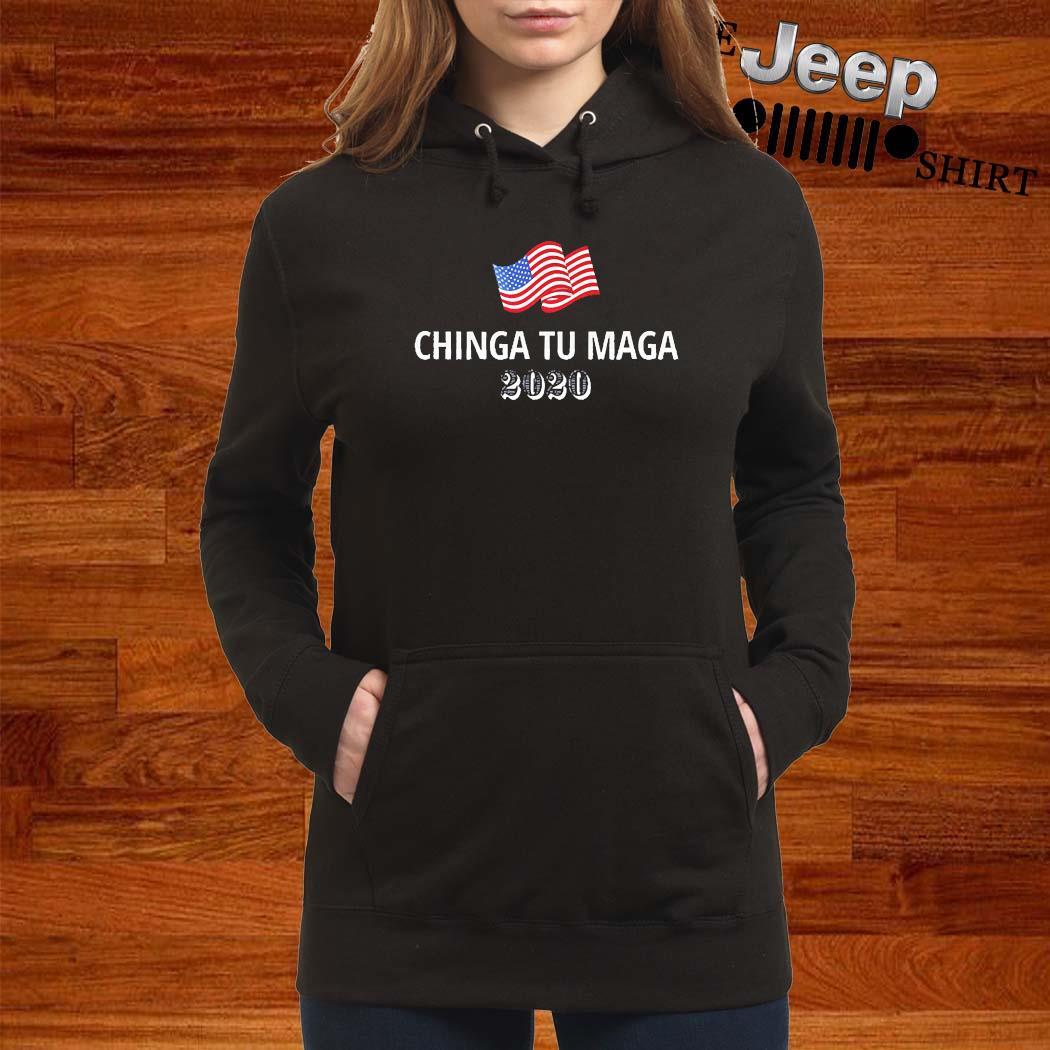 Chinga Tu Maga 2020 Flag US Shirt women-hoodie