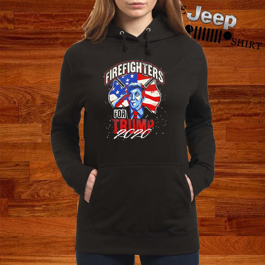 Firefighters For Trump 2020 Fire Fighter Shirt women-hoodie