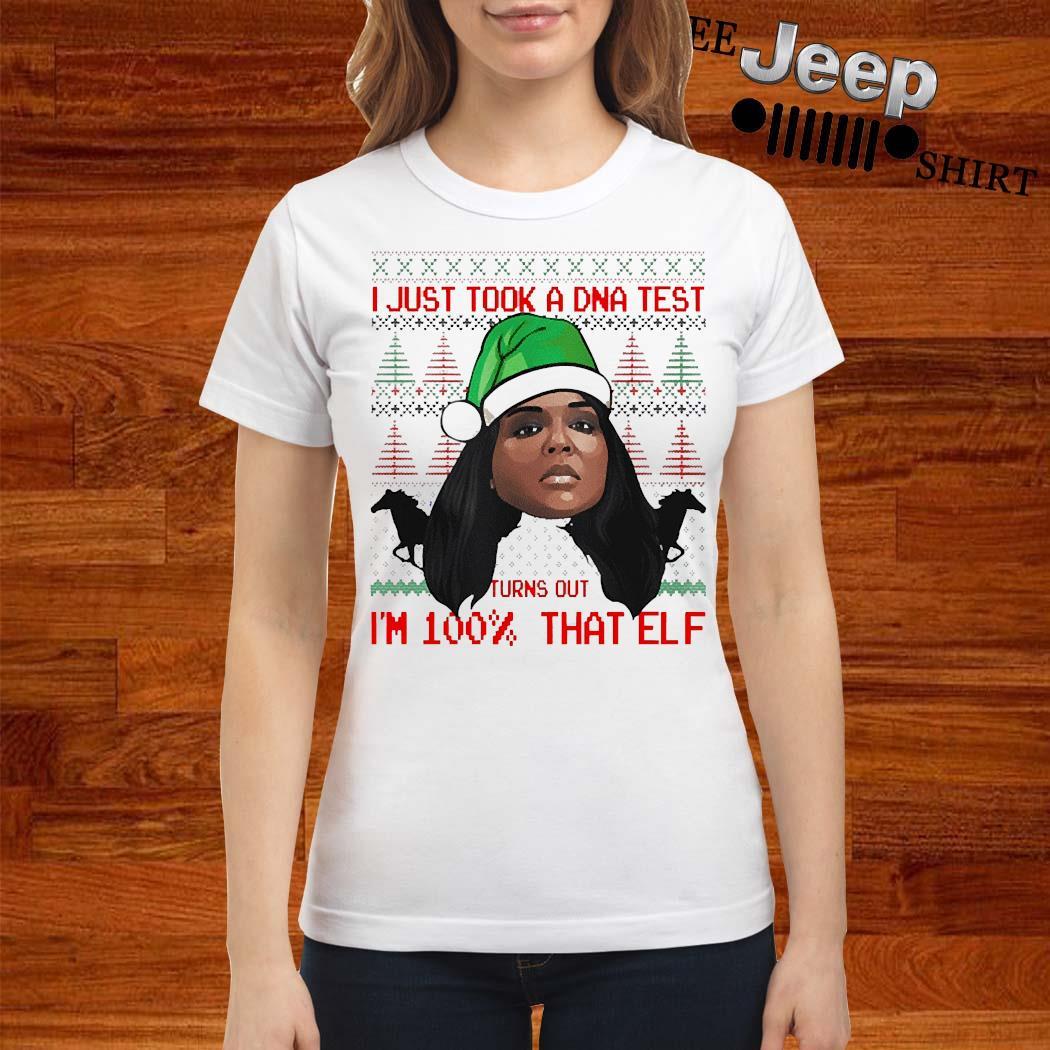 Lizzo 100 Percent That Elf Christmas Shirt ladies-shirt