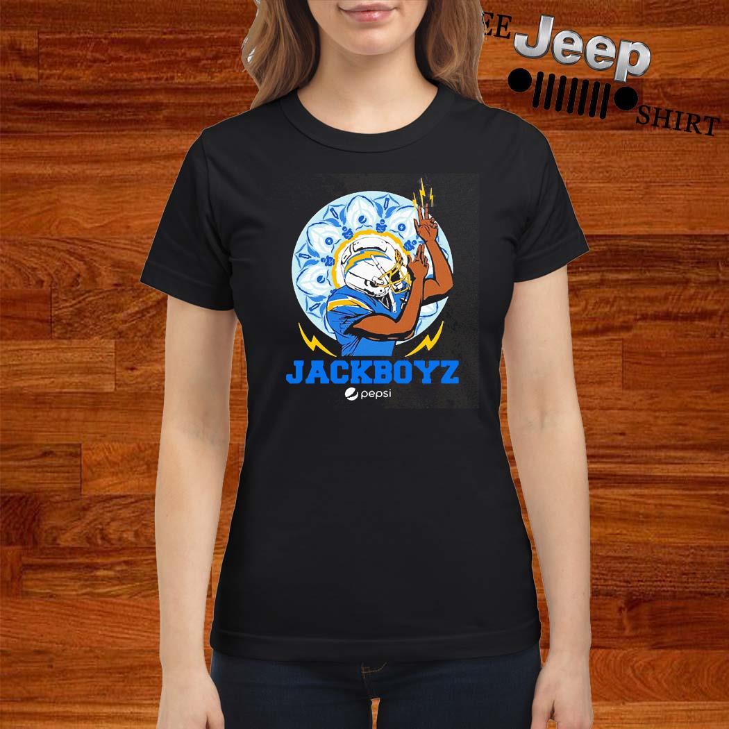 Los Angeles Chargers Jackboyz Pepsi Shirt ladies-shirt