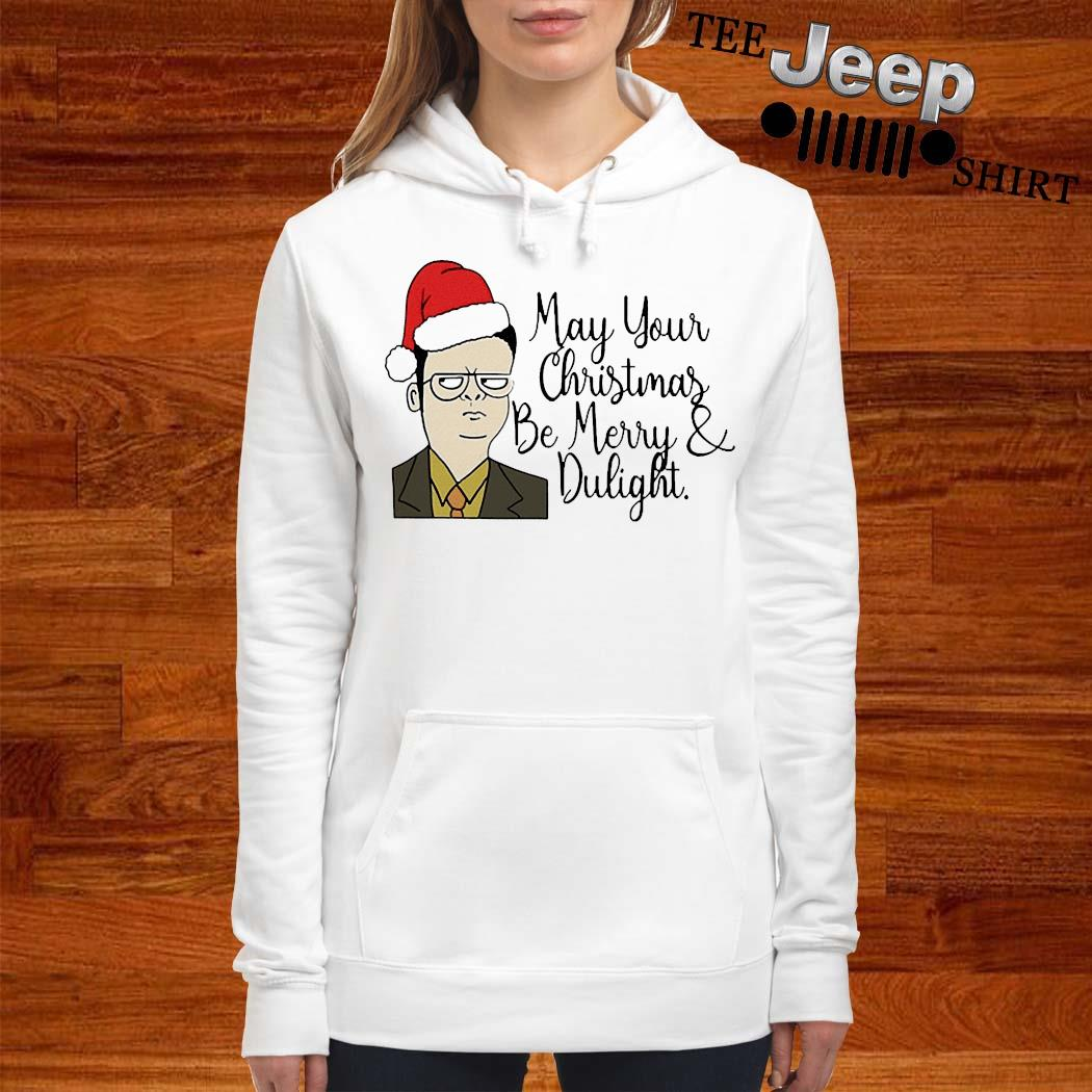 May Your Christmas Be Merry And Dwight Shirt women-hoodie