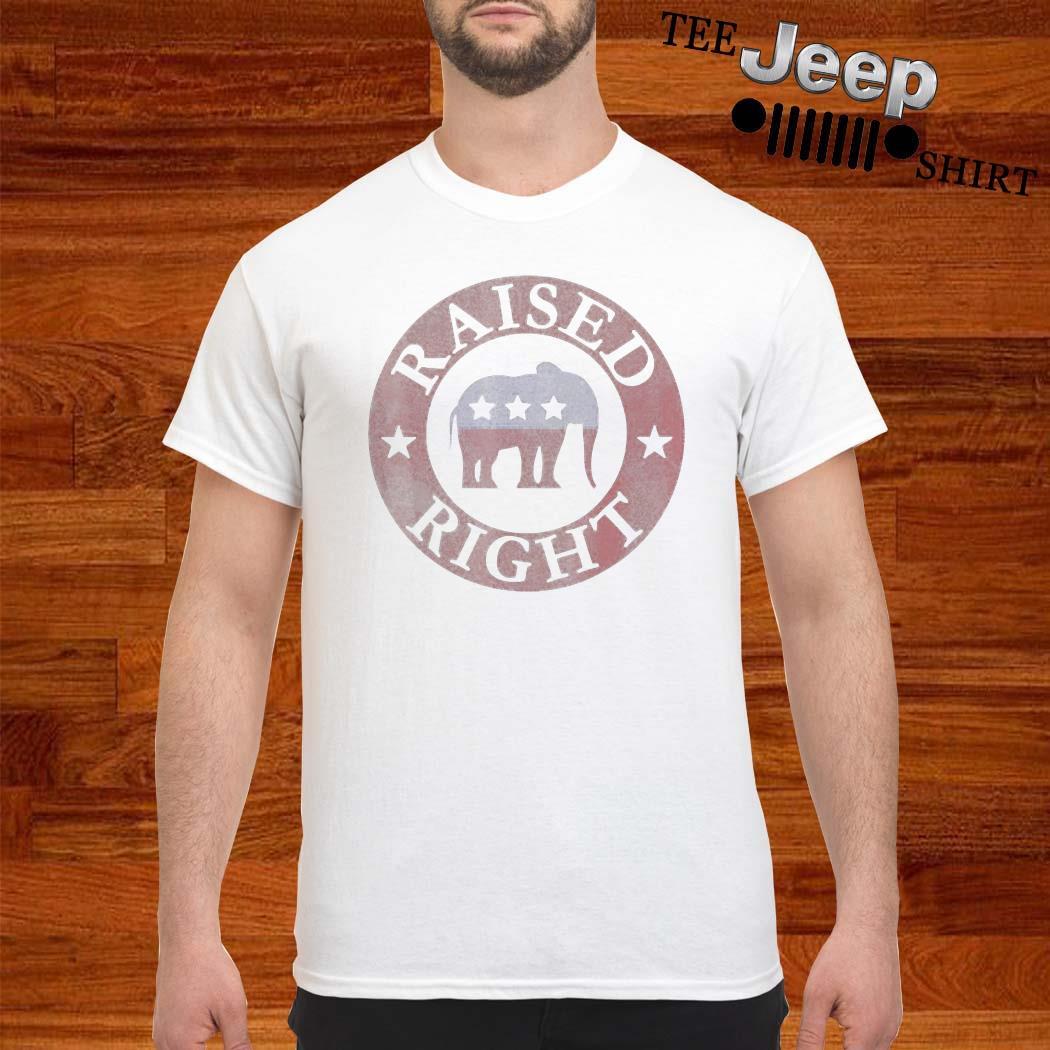 Raised Right Vote Donald Trump Republican Elephant Shirt