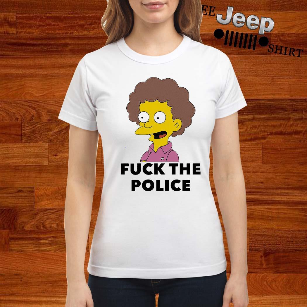 Todd Flanders Fuck The Police Shirt ladies-shirt