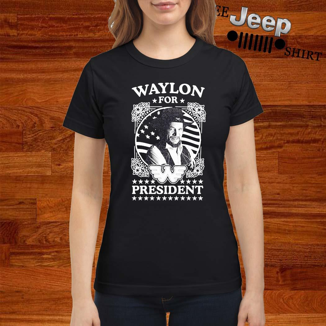 Waylon For President Us Flag Shirt ladies-shirt
