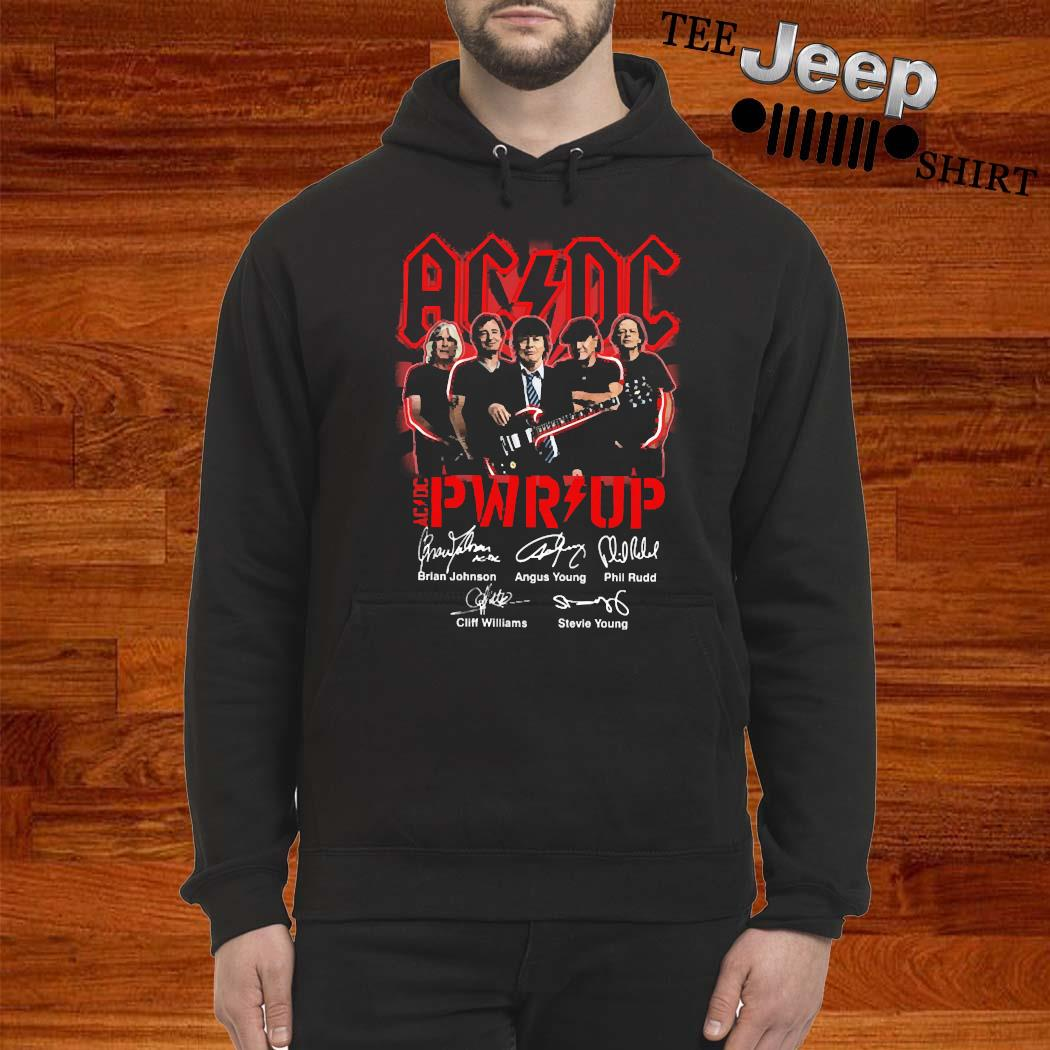 AC DC PWR Up Signatures Shirt hoodie