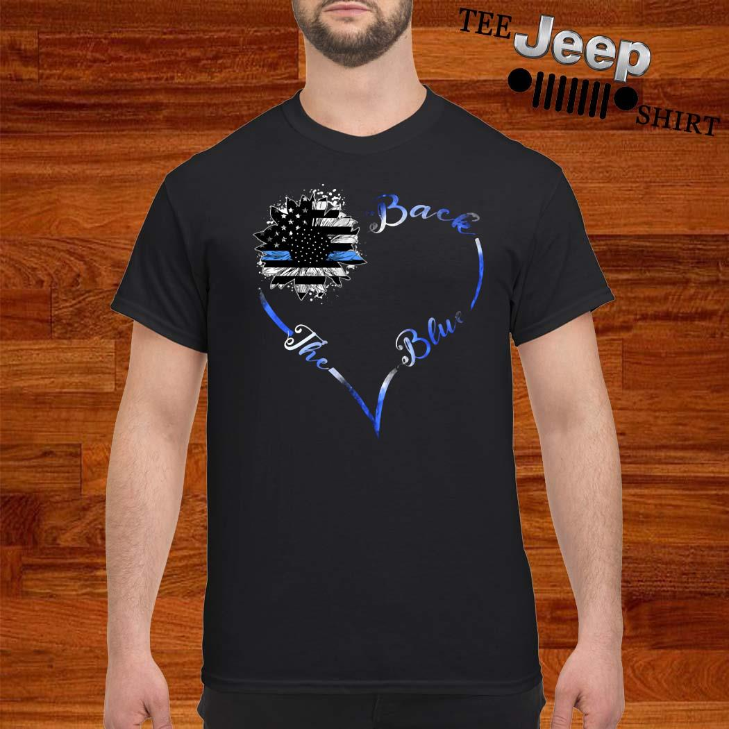 Back The Blue Heart Shirt
