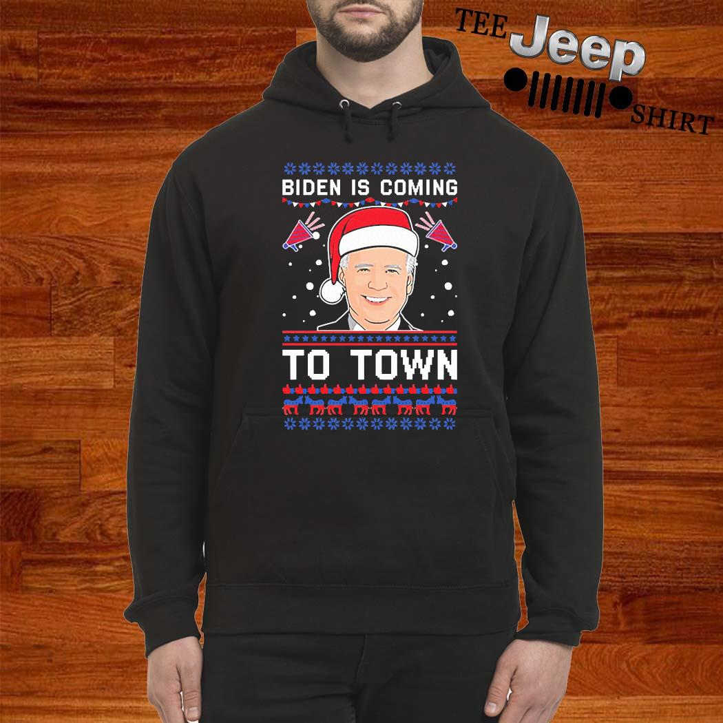 Biden Is Coming To Town Christmas Sweater hoodie