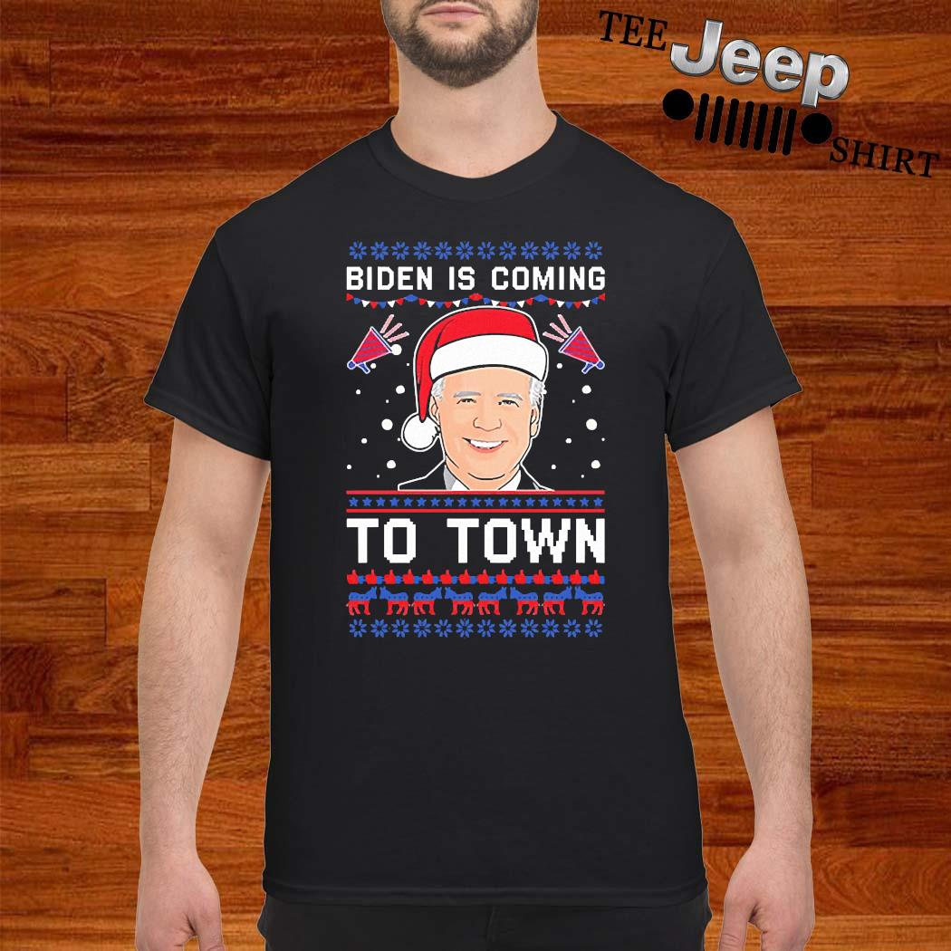 Biden Is Coming To Town Christmas Sweater