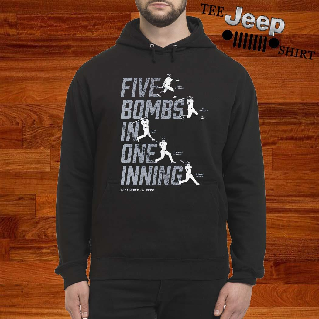 Five Bombs In One Inning Shirt hoodie