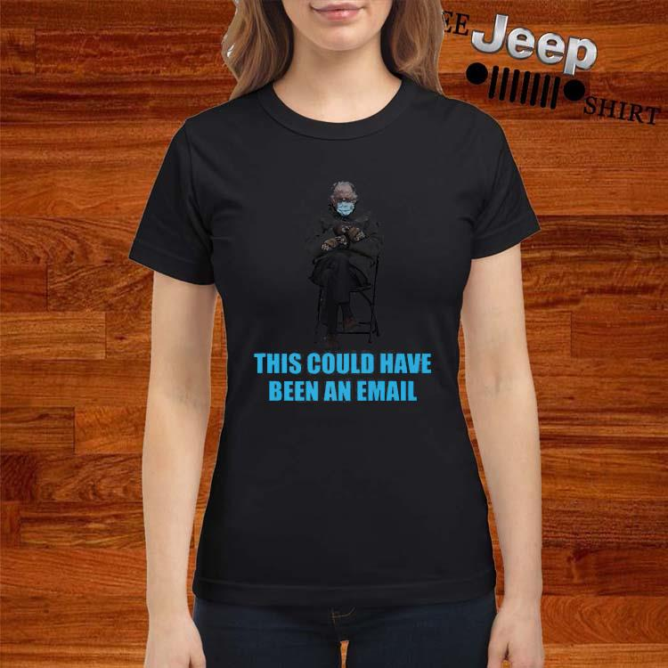 Bernie Sanders Mittens Sitting Inaugruation Meme Shirt ladies-shirt